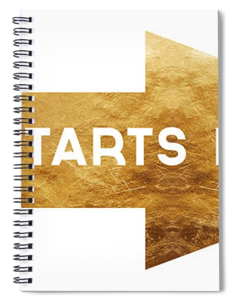 Life Starts Here-art By Linda Woods Spiral Notebook