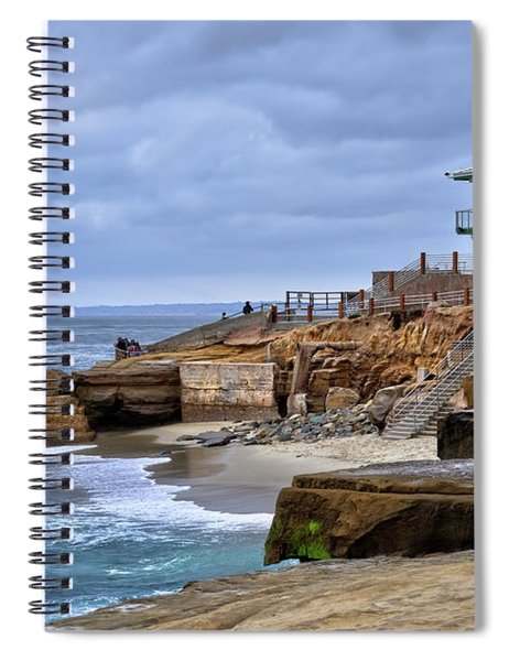 Lifeguard Station At Children's Pool Spiral Notebook