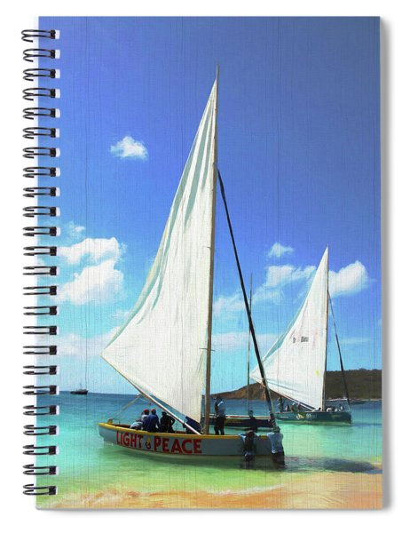 Light And Peace Sailboat In Anguilla  Spiral Notebook