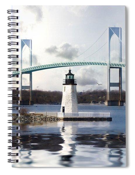 Light At Goat Island Spiral Notebook