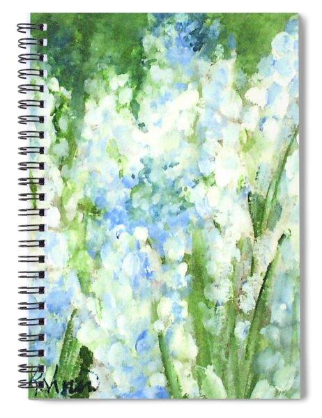 Light Blue Grape Hyacinth. Spiral Notebook
