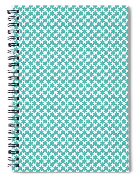 Light Blue Star Of David- Art By Linda Woods Spiral Notebook