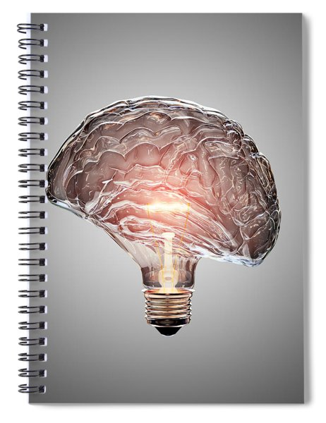 Light Bulb Brain Spiral Notebook