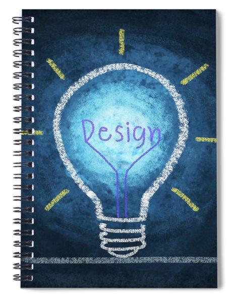 Light Bulb Design Spiral Notebook