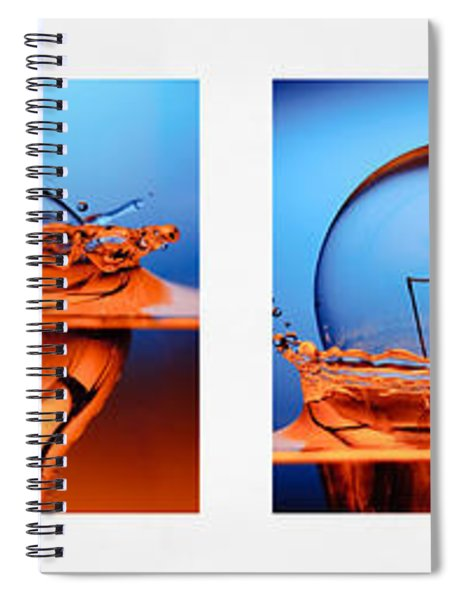 Light Bulb Drop In To The Water Spiral Notebook