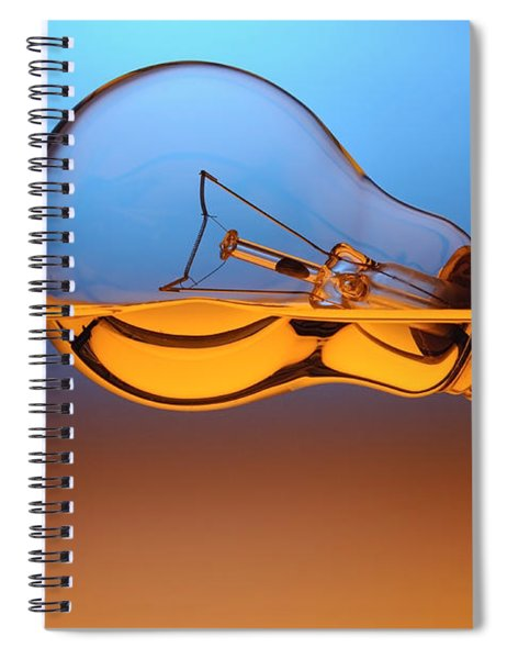 Light Bulb In Water Spiral Notebook