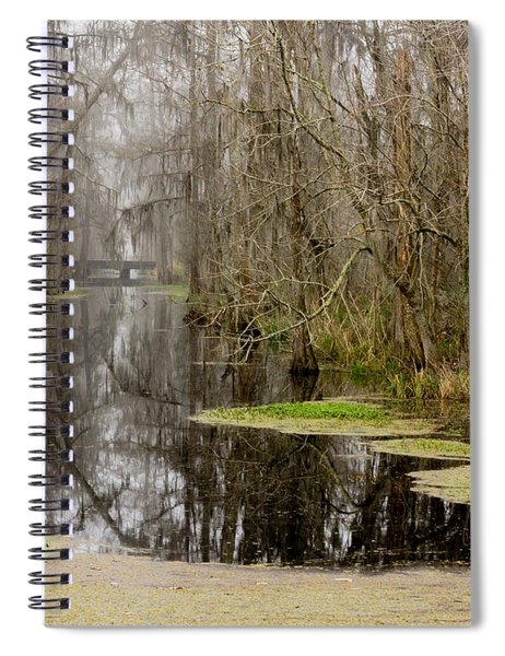 Light Fog On The Swamp Spiral Notebook