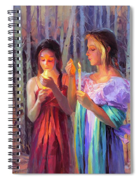 Light In The Forest Spiral Notebook