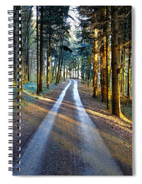 Light Path Crossing In The Woods Spiral Notebook