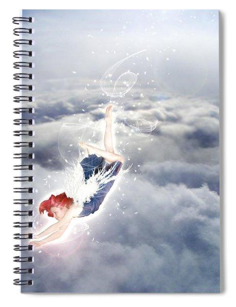 Light Play Angels Descent Spiral Notebook