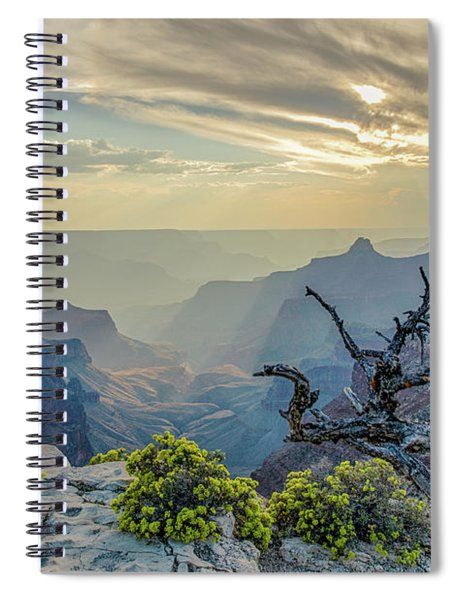 Light Seeks The Depths Of Grand Canyon Spiral Notebook