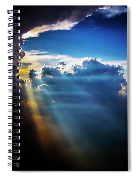 Light Shafts From Thunderstorm 2008 II Spiral Notebook