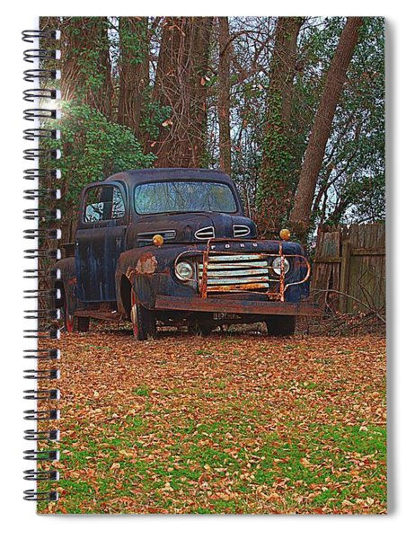 Sunlight Shines On Old Classic Spiral Notebook