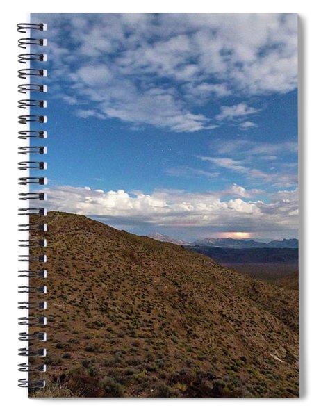 Light Show Over The Amargosa Range Spiral Notebook