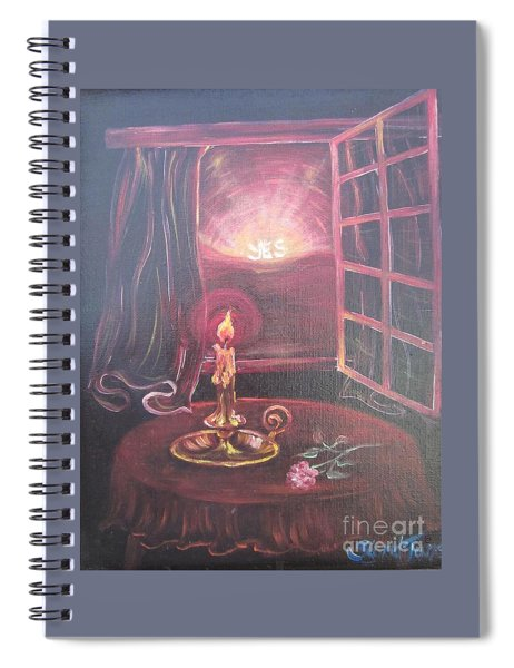 Flying Lamb Productions      Light The Yes Candle Spiral Notebook