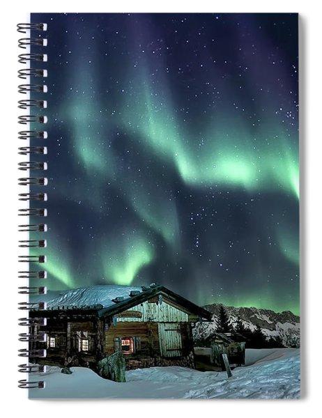 Light Through The Night Spiral Notebook