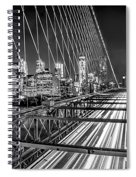 Light Trails Of Manhattan Spiral Notebook
