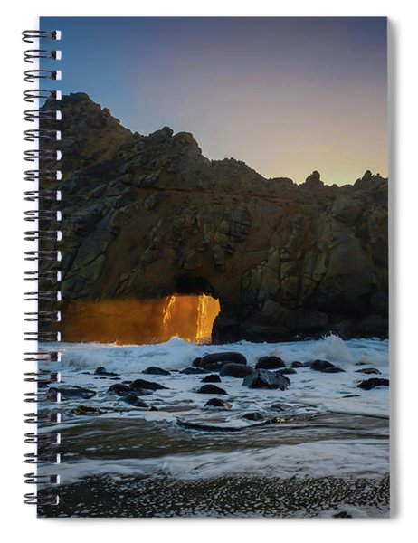 Light Tunnel Spiral Notebook