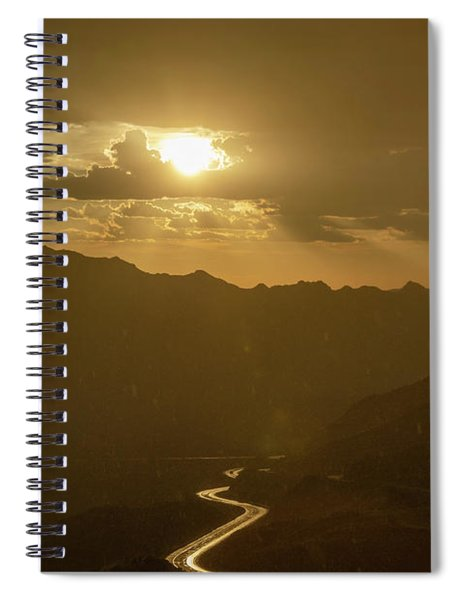 Light Up The Highway In The Rain Spiral Notebook