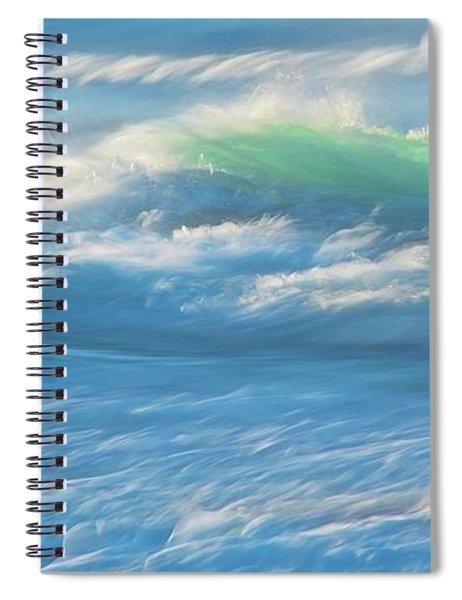 Light Wave At Asilomar, Pacific Grove, California Spiral Notebook