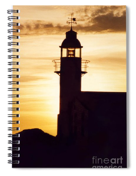 Lighthouse At Sunset Spiral Notebook