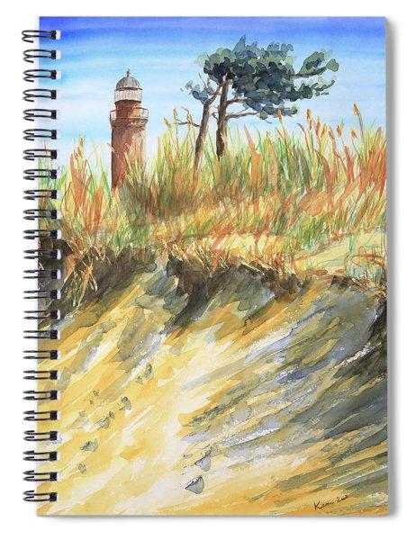 Lighthouse At The Beach Spiral Notebook