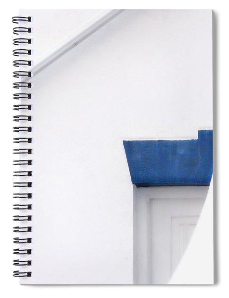 Lighthouse Door Detail Abstract Spiral Notebook