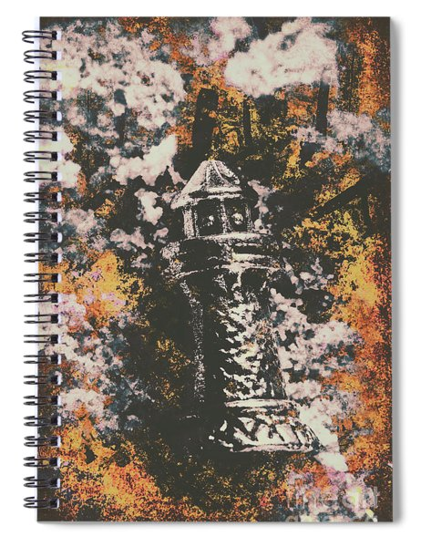 Lighthouse From Rust Harbour Spiral Notebook