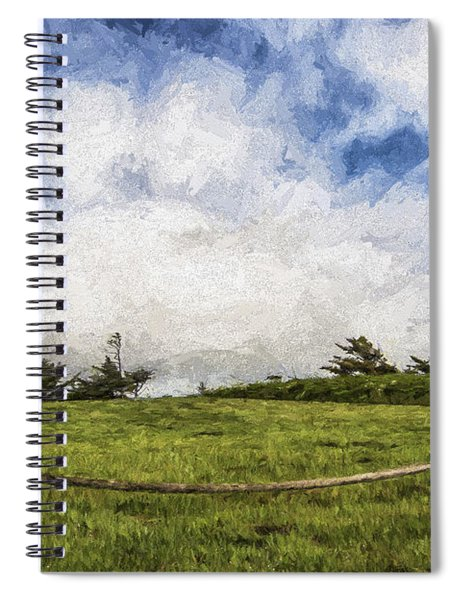 Lighthouse In The Clouds II Spiral Notebook
