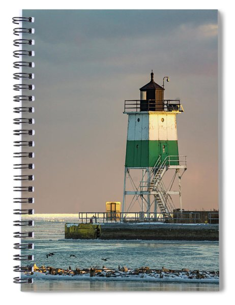 Lighthouse In The Sunset Spiral Notebook