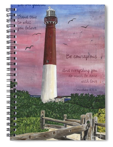 Lighthouse Inspirational Spiral Notebook