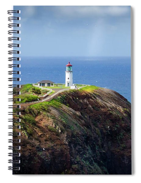 Lighthouse On A Cliff Spiral Notebook