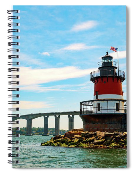 Lighthouse On A Small Island Spiral Notebook
