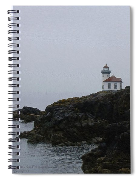 Lighthouse On Rainy Day Spiral Notebook
