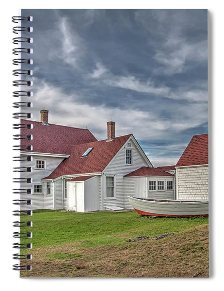 Keepers House At The Monheagn Lighthouse Spiral Notebook