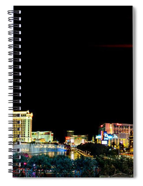 Lighting Up Vegas Spiral Notebook