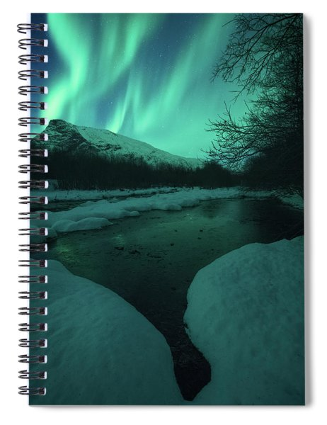 Lights Above Kjellerkampen Spiral Notebook