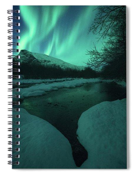 Lights Above Kjellerkampen Spiral Notebook