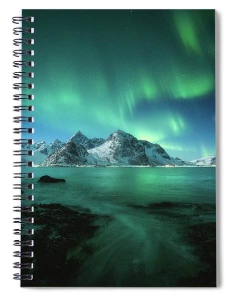 Lights Above Lofoten Spiral Notebook
