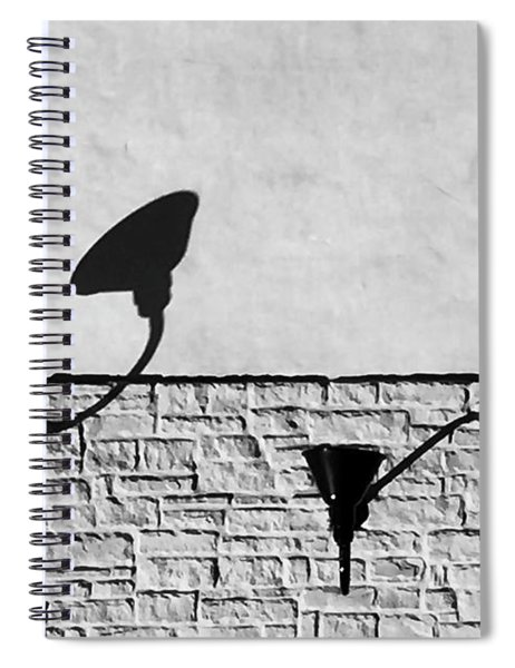 Lights And Texture Spiral Notebook