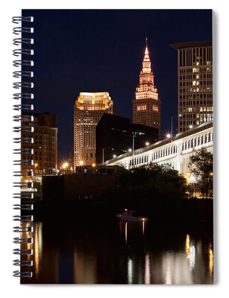 Lights In Cleveland Ohio Spiral Notebook