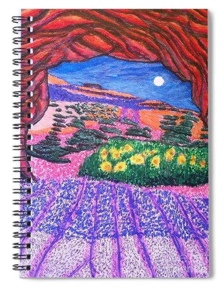 Lights Of Dusk Spiral Notebook