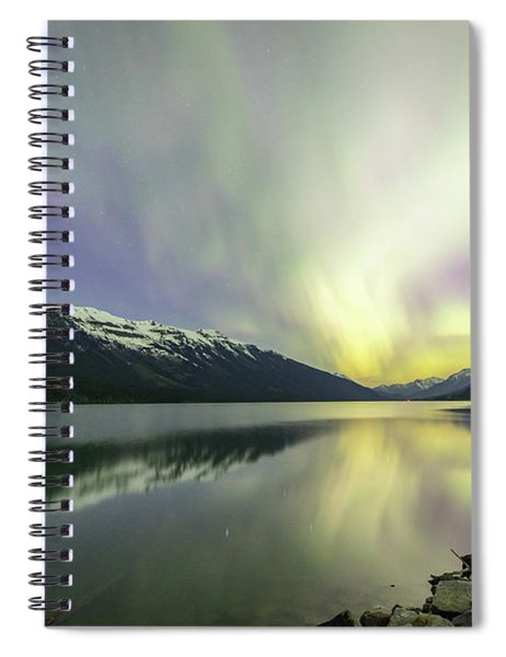 Lights Reflecting On Moose Lake Spiral Notebook