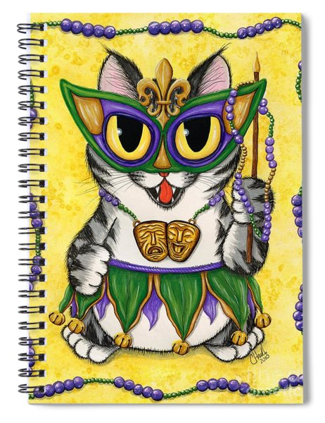 Lil Mardi Gras Cat Spiral Notebook