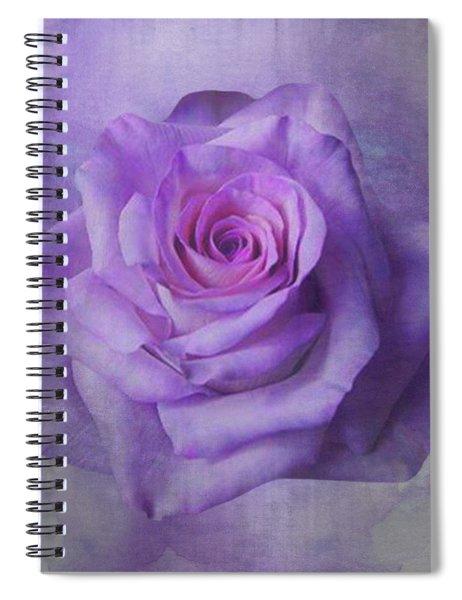 Lilac Purple Rose Spiral Notebook
