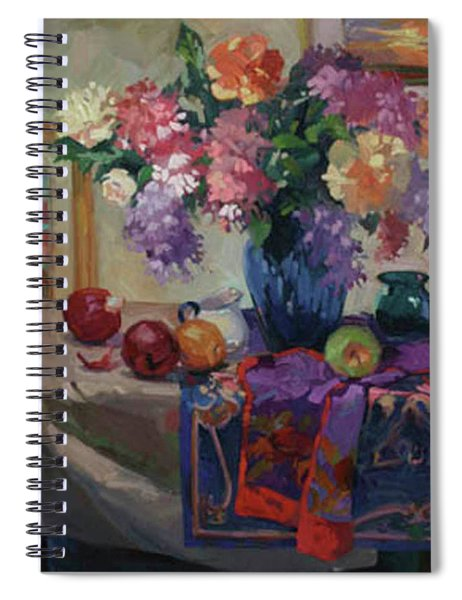 Lilacs And Peonies Spiral Notebook