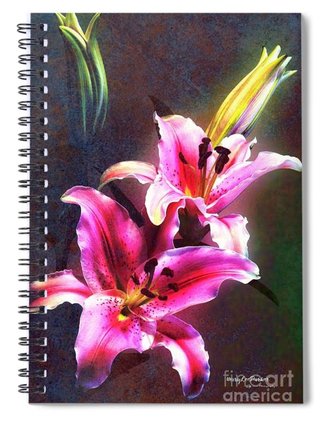 Lilies At Night Spiral Notebook