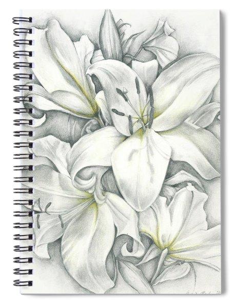 Lilies Pencil Spiral Notebook