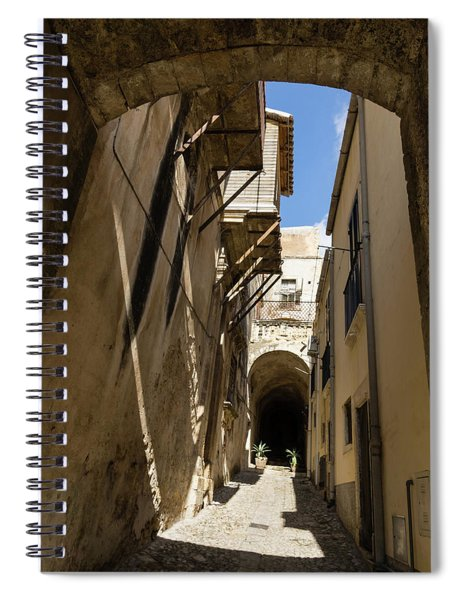 Limestone And Sharp Shadows - Old Town Noto Sicily Italy Spiral Notebook