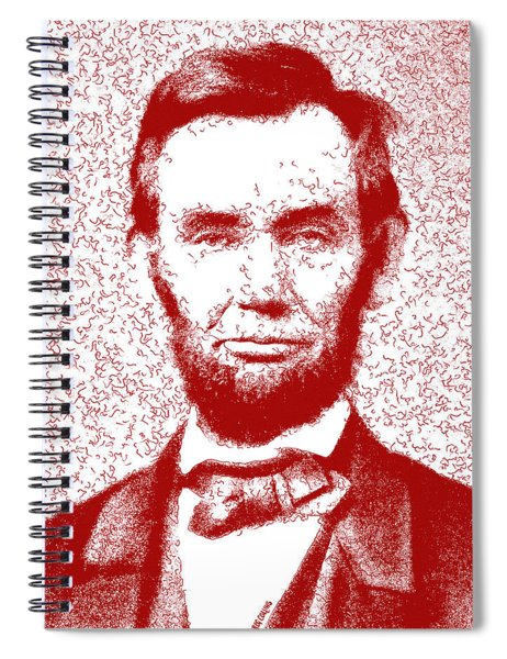 Lincoln Abstract Red Spiral Notebook